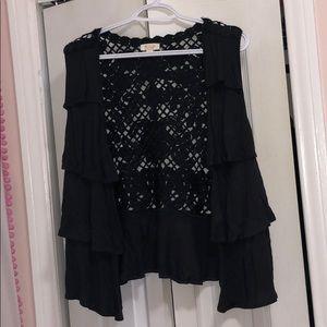 Crochet back jacket